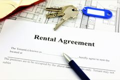 An concept Image of a rental agreement stock images