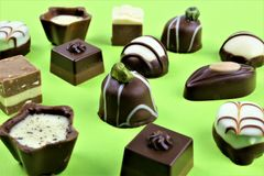 An concept Image of some chocolates pralines stock photo