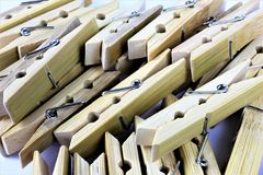 An concept Image of some clothespins. Homework, work - abstract Royalty Free Stock Photo