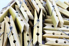 An concept Image of some clothespins. Homework, work - abstract royalty free stock photos