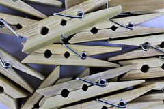 An concept Image of some clothespins. Homework, work - abstract stock image
