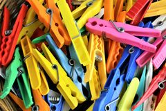 An concept Image of some colorful clothespins. Abstract royalty free stock image