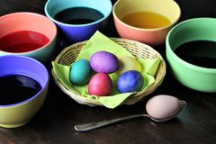 An concept Image of some easter eggs, with copy space. Abstract Royalty Free Stock Photos
