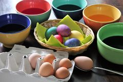 An concept Image of some easter eggs, with copy space. Abstract Stock Image