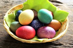An concept Image of some easter eggs, with copy space. Abstract Royalty Free Stock Photo