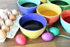 An concept Image of some easter eggs, with copy space. Abstract Royalty Free Stock Photography
