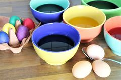 An concept Image of some easter eggs, with copy space. Abstract Stock Images