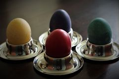 An concept Image of some easter eggs, with copy space. Abstract Stock Photos