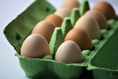 An concept Image of some Eggs in a box. Abstract Royalty Free Stock Image