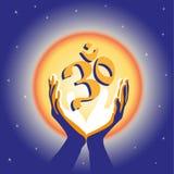 Concept image symbol Om practice. Royalty Free Stock Photo