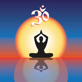 Concept image symbol Om practice. Royalty Free Stock Image