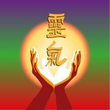 Concept image symbol of Reiki practice. Stock Photos