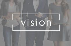 Concept imaginaire visionnaire d'Expection de vision images libres de droits
