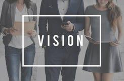 Concept imaginaire visionnaire d'Expection de vision image stock