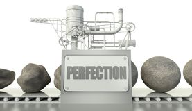 Concept with imperfection and perfection Royalty Free Stock Photos