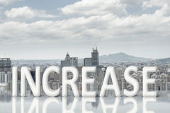 Concept of improve, increase, boost Royalty Free Stock Photo