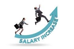 Concept inégal de salaire entre l'homme et la femme image stock