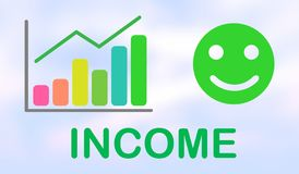 Concept of income growth. Illustration of an income growth concept royalty free illustration