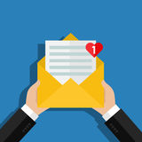 Concept of incoming email message. Royalty Free Stock Images