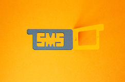 Concept of incoming sms Royalty Free Stock Image
