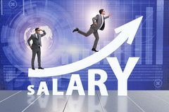 Concept of increasing salary with businessman royalty free stock photos