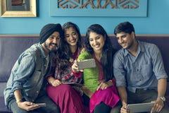 Concept indien de boissons d'unité de la Communauté Photographie stock libre de droits