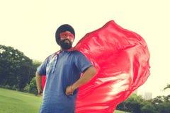Concept indien de puissance de super héros d'homme Photo libre de droits