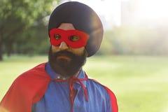 Concept indien de puissance de super héros d'homme Photographie stock