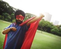 Concept indien de puissance de super héros d'homme Photo stock