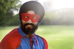 Concept indien de puissance de super héros d'homme Images libres de droits