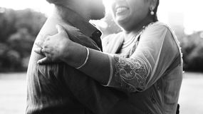Concept indien de soin d'amour de couples Photographie stock
