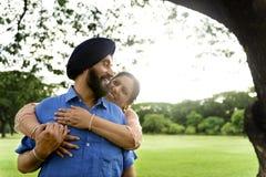 Concept indien de soin d'amour de couples Images libres de droits