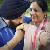 Concept indien de soin d'amour de couples Photographie stock libre de droits