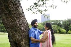 Concept indien de soin d'amour de couples Image libre de droits