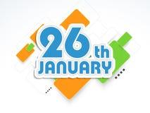 Concept indien heureux de célébration de jour de République Images libres de droits