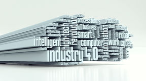Concept of industry 4.0 Royalty Free Stock Photos