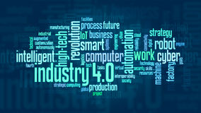 Concept of industry 4.0 Royalty Free Stock Photo