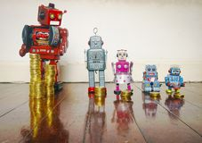Concept Inequality Robots Royalty Free Stock Photography