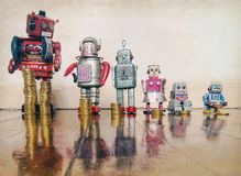 Concept Inequality Robots Royalty Free Stock Photos