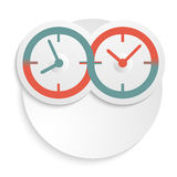 Concept of infinity of time clock icon isolated. The clock idea poster or modern magazine cover. Elegant round clock face (dial) concept infinity timline. Icons Royalty Free Stock Photos