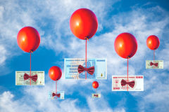 Concept of inflation and currency fluctuations Royalty Free Stock Photography