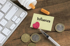 Concept of influenza Stock Images