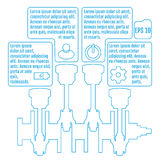 The concept infographic based on the crankshaft. repair Infograp Royalty Free Stock Photos
