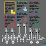 The concept infographic based on the crankshaft. repair Infograp Royalty Free Stock Photography