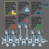 The concept infographic based on the crankshaft. repair Infograp Stock Images