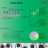 The concept infographic based on the crankshaft. Repair Infograp Royalty Free Stock Photo