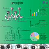 The concept infographic based on the crankshaft. Repair Infograp Royalty Free Stock Image