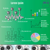 The concept infographic based on the crankshaft. Repair Infograp Stock Photography