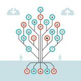Concept infographic d'affaires - dirigez la disposition pour la présentation, le site Web, le livret et d'autres projets de conce Photo stock