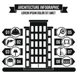 Concept infographic d'architecture, style simple Photos stock